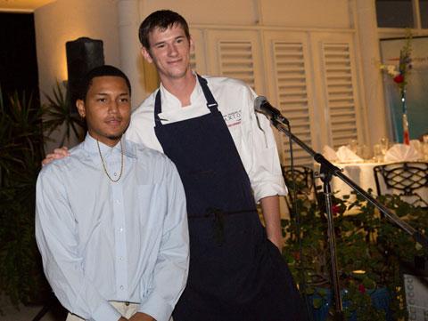 Desly Missick with chef Adam Handling. - Photo: Stephen Clarke