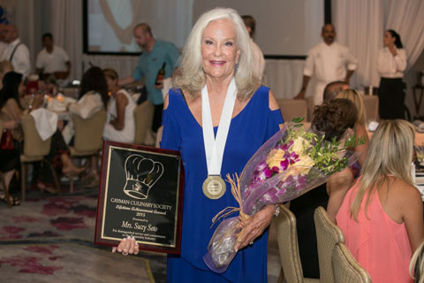 Hotel and restaurant pioneer Suzy Soto received the Cayman Culinary Society's Lifetime Achievement Award for her distinguished service and commitment to Cayman's hospitality industry.