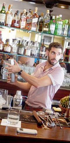 Mixologist Paulo Figueiredo in action. - PHOTO: JOANNA LEWIS