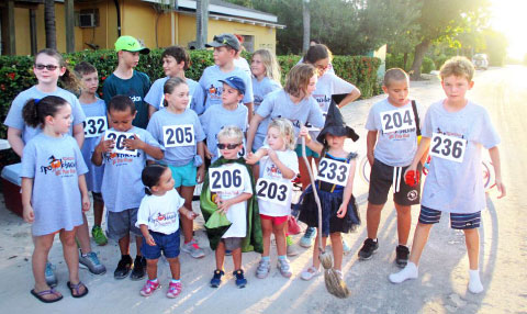 The younger runners assemble at the Spooktacular fun run. - Photo: Xiomara Mejia